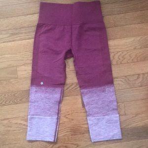 Lululemon seamlessly street crop leggings 4